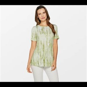 Lisa Rinna printed knit top with back detail